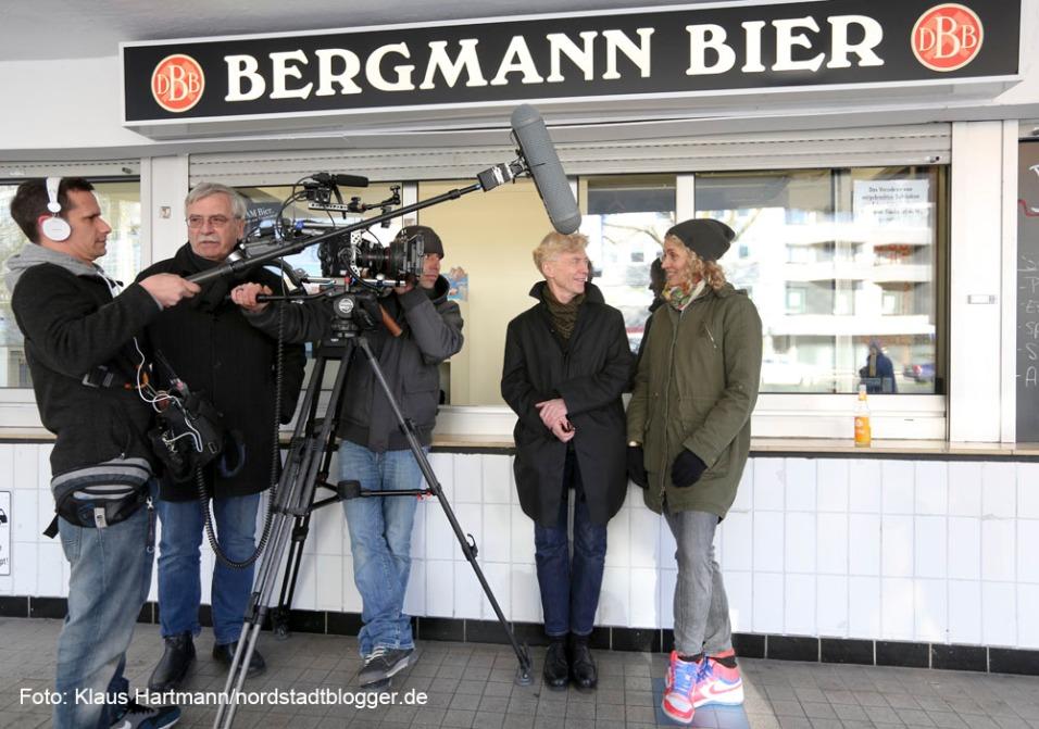 Arte dreht in Dortmund einen Film: Eutopia. Europas Städte - Europas Zukunft. Drehbuchautorin Sarah Schill im Gespräch mit Prof. Dr. Kurt Wettengl, Direktor des Ostwall-Museums